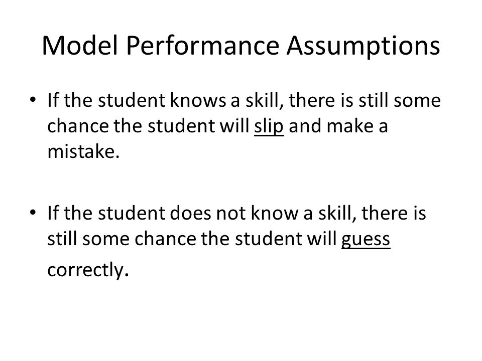 Model Performance Assumptions