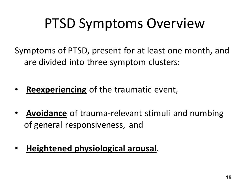 PTSD Symptoms Overview