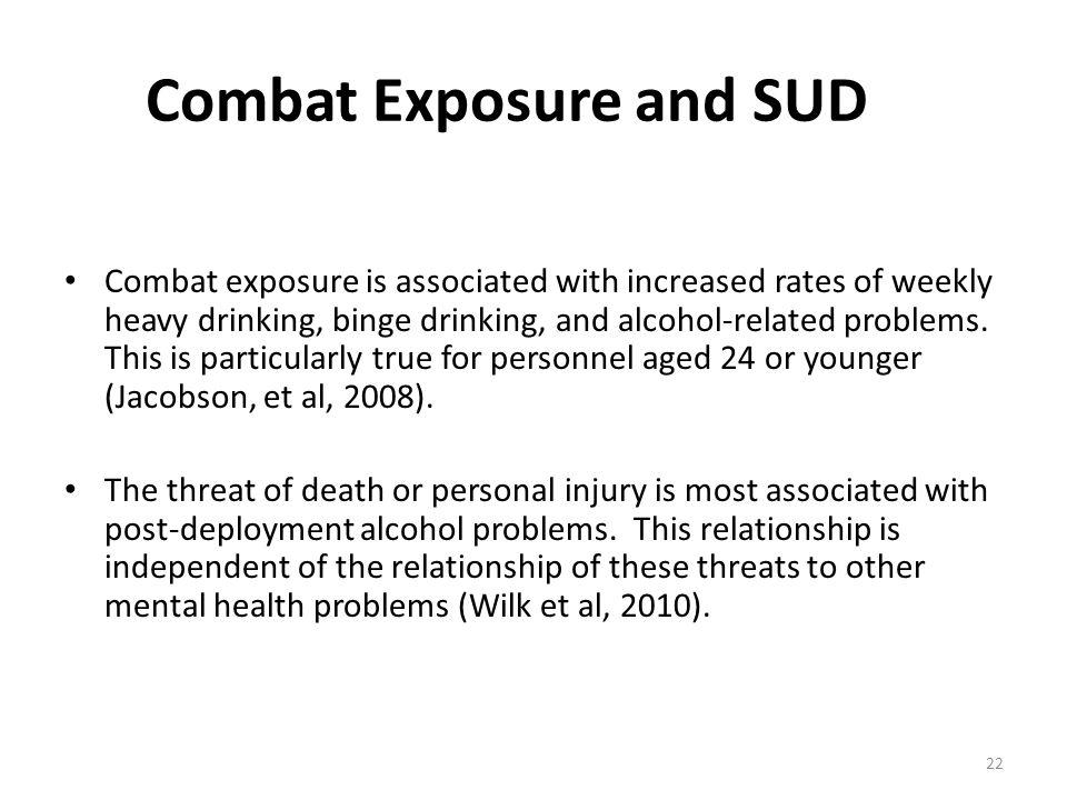 Combat Exposure and SUD