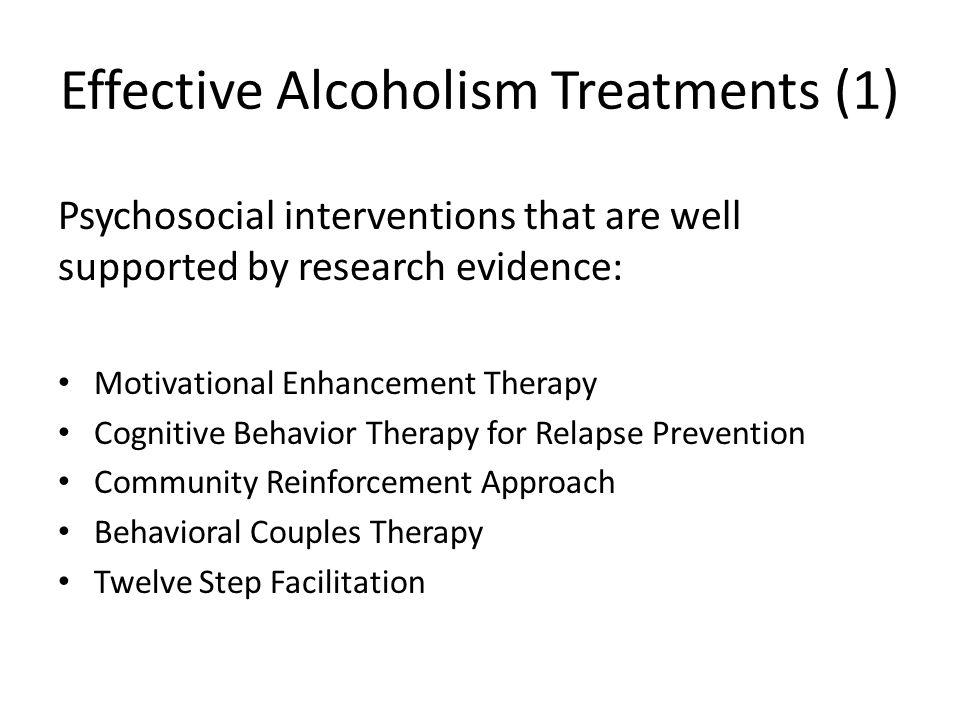 Effective Alcoholism Treatments (1)