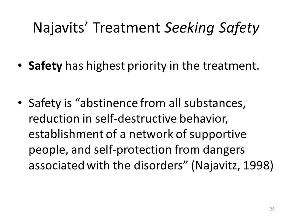 Najavits' Treatment Seeking Safety