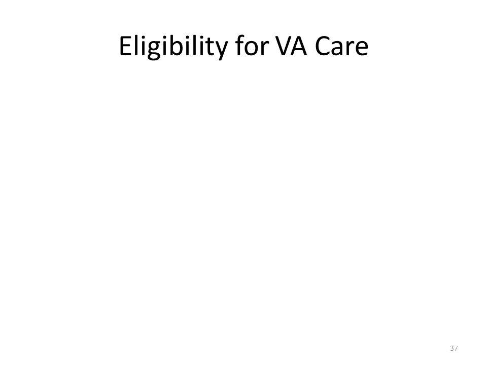 Eligibility for VA Care