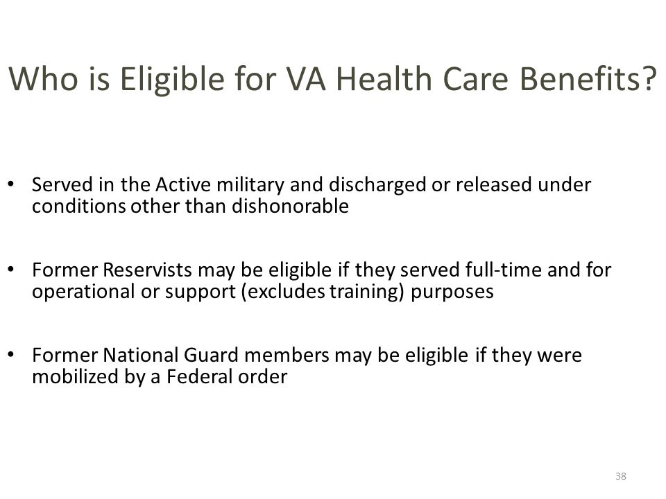 Who is Eligible for VA Health Care Benefits