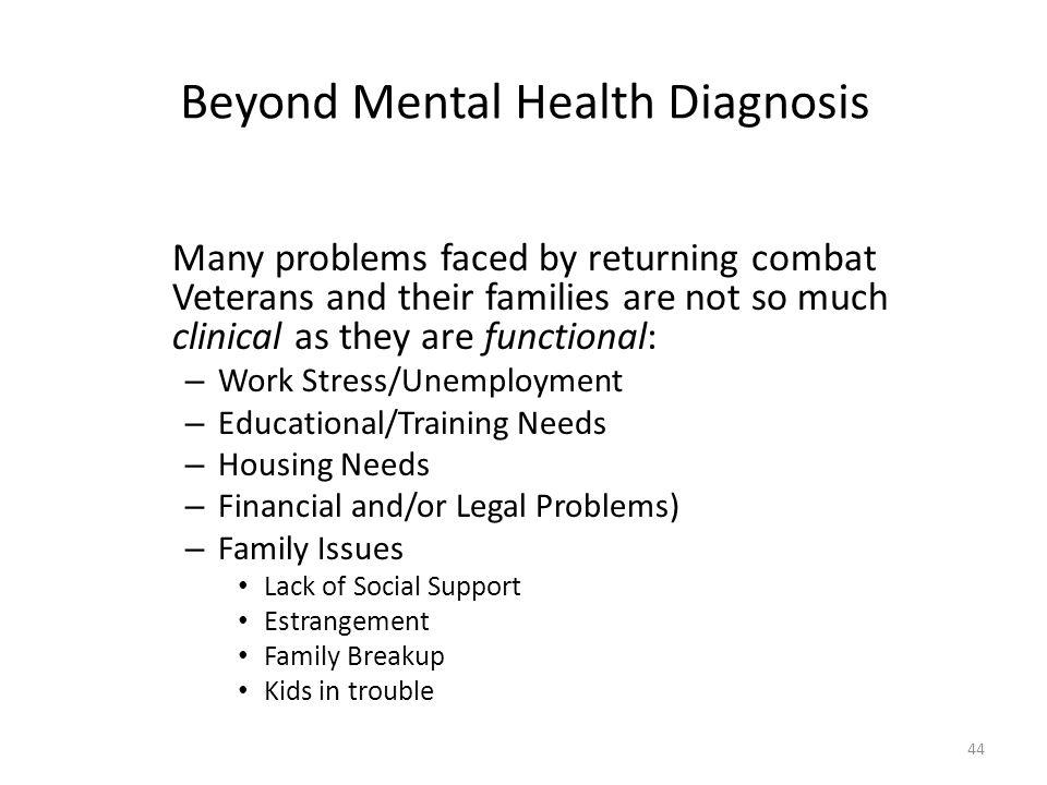 Beyond Mental Health Diagnosis