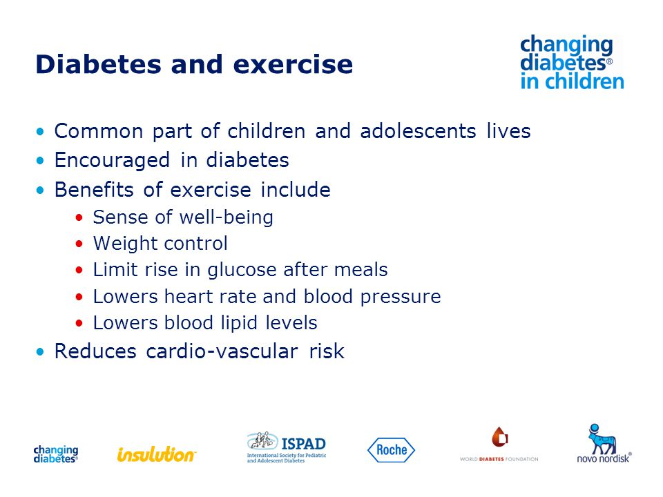 Diabetes and exercise Common part of children and adolescents lives