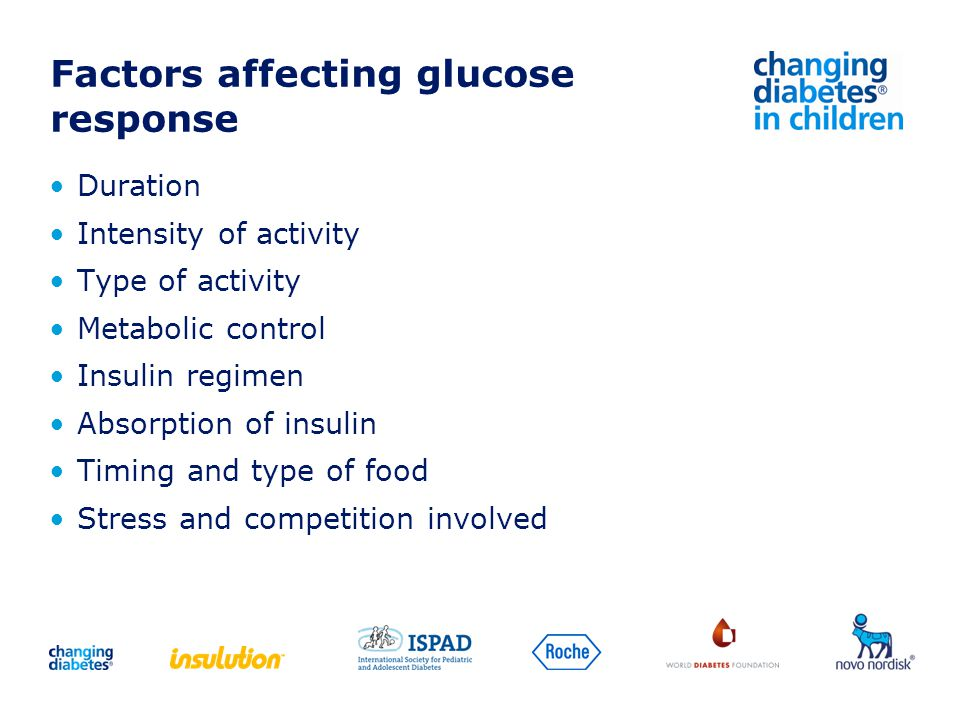 Factors affecting glucose response