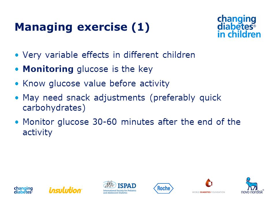 Managing exercise (1) Very variable effects in different children