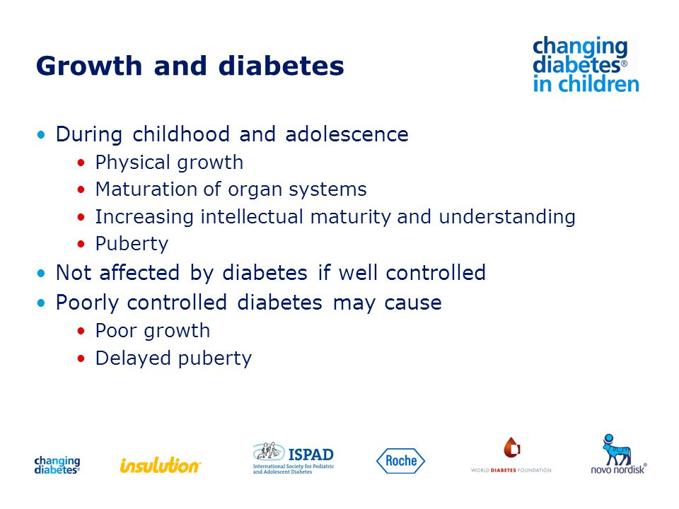 Growth and diabetes During childhood and adolescence