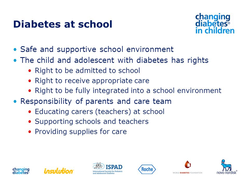 Diabetes at school Safe and supportive school environment