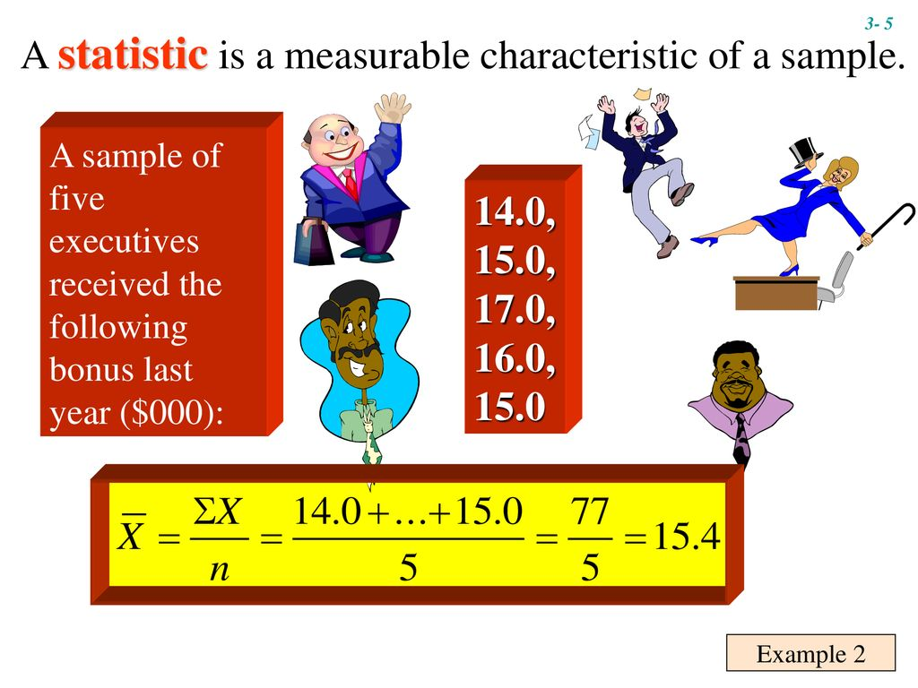 A statistic is a measurable characteristic of a sample.
