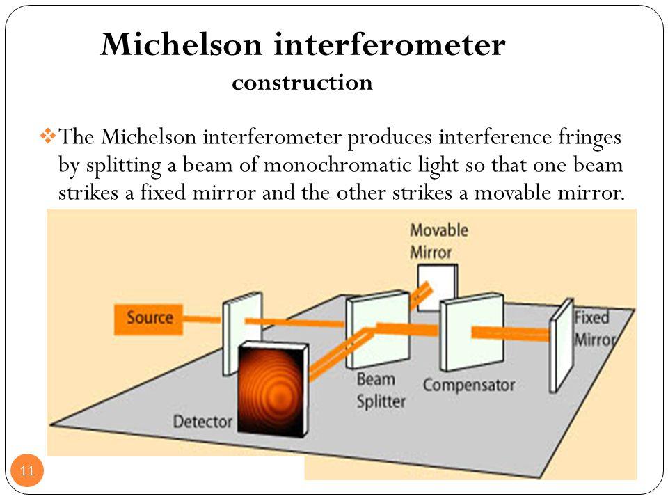 Michelson interferometer construction