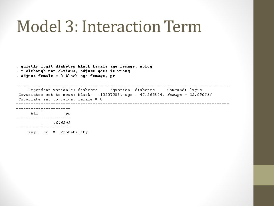 Model 3: Interaction Term