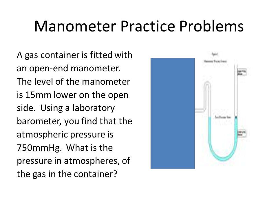 Manometer Practice Problems
