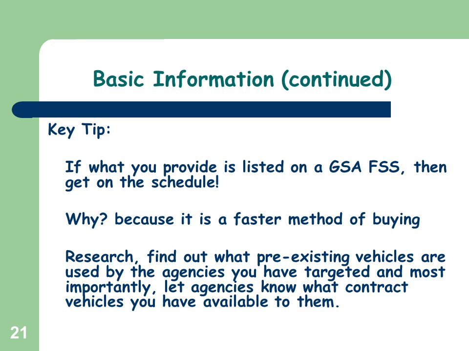 Basic Information (continued)