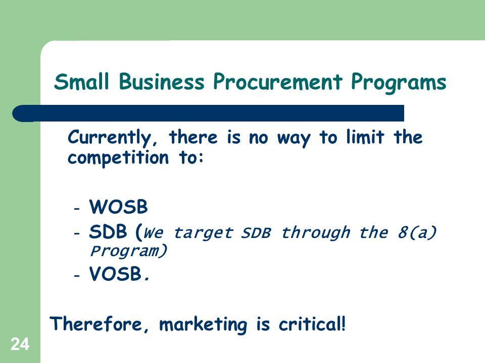 Small Business Procurement Programs