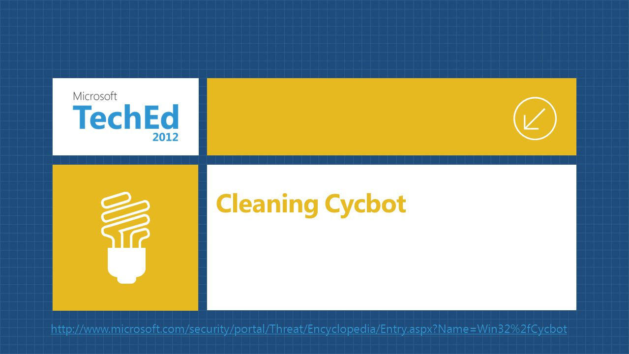 Cleaning Cycbot http://www.microsoft.com/security/portal/Threat/Encyclopedia/Entry.aspx Name=Win32%2fCycbot.