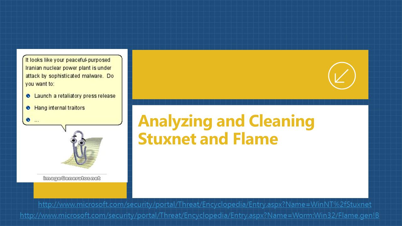 Analyzing and Cleaning Stuxnet and Flame