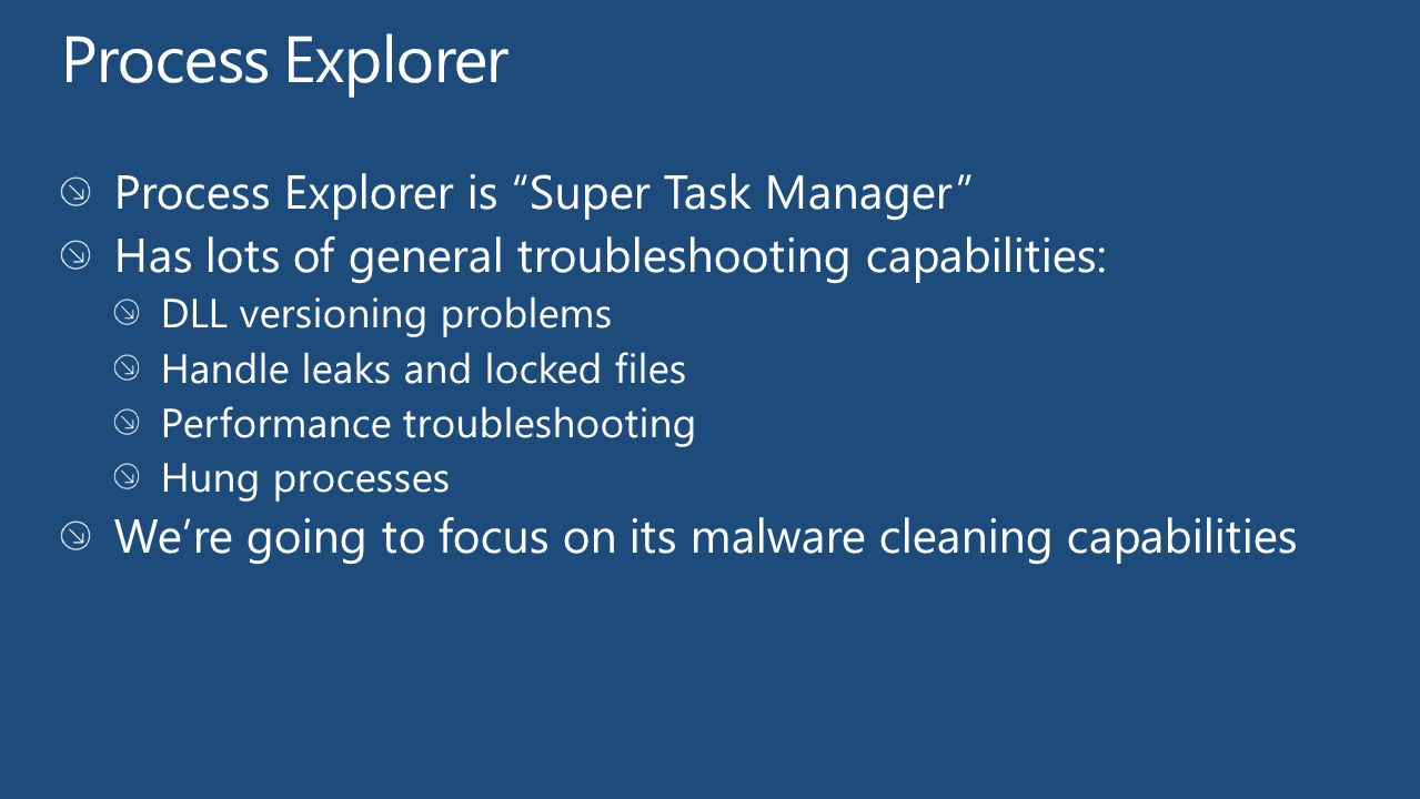 Process Explorer Process Explorer is Super Task Manager