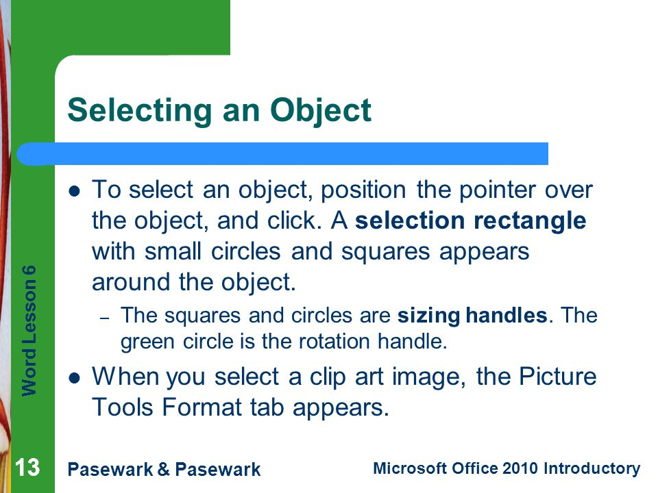 Selecting an Object