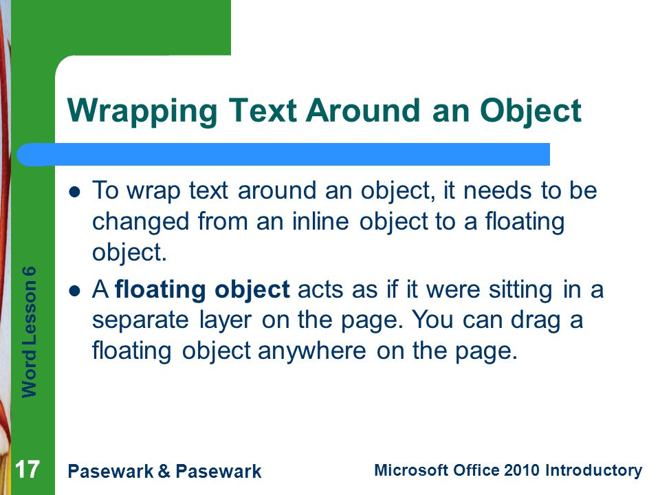 Wrapping Text Around an Object