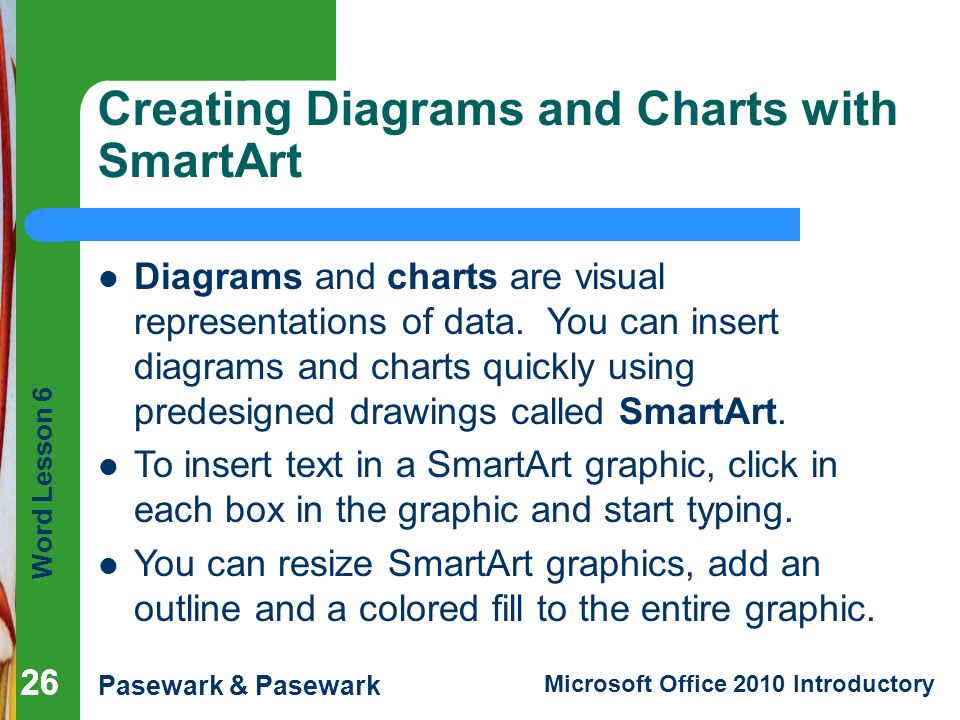 Creating Diagrams and Charts with SmartArt