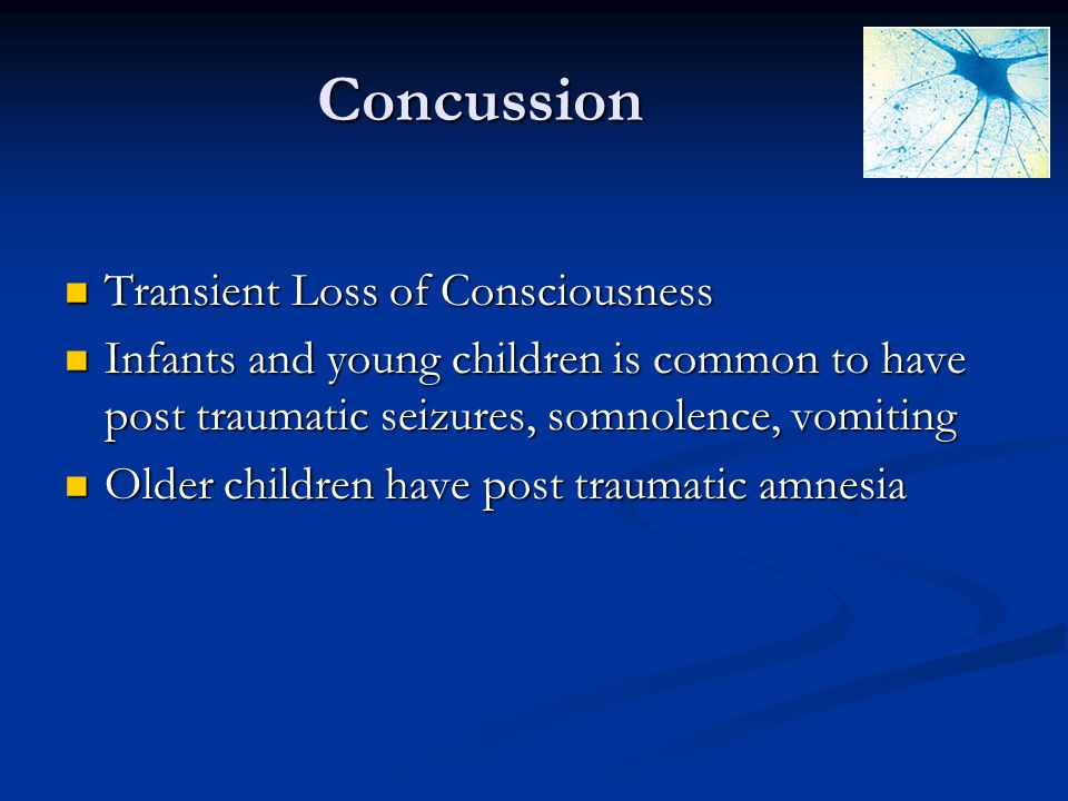 Concussion Transient Loss of Consciousness
