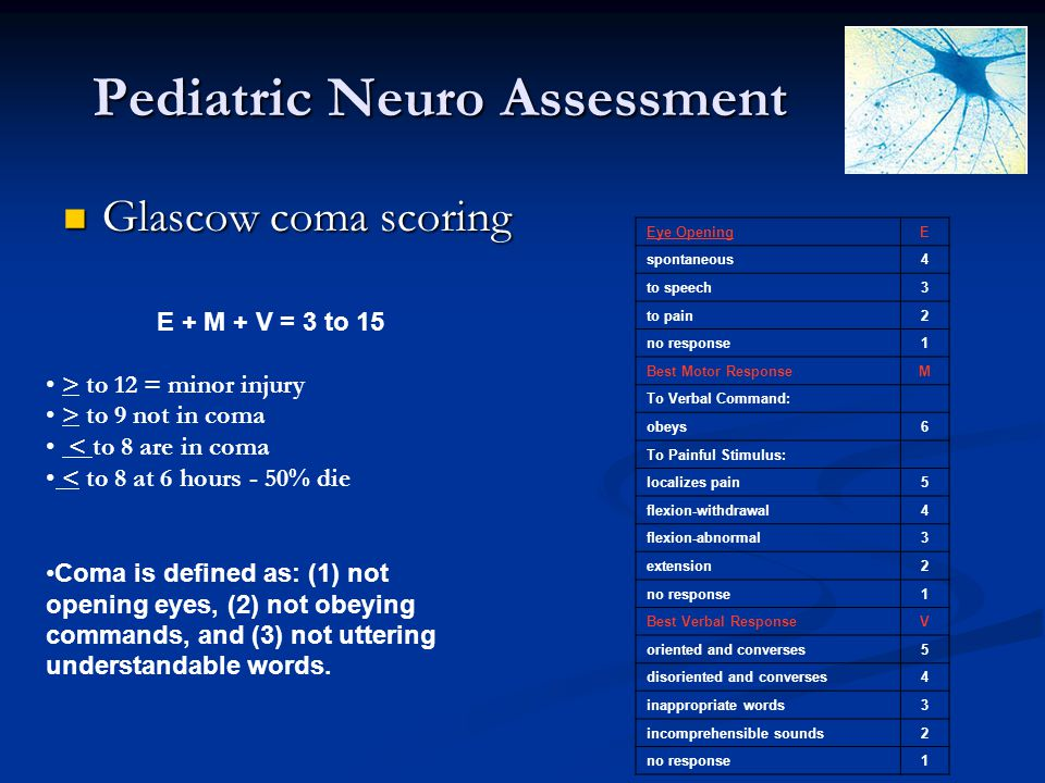 Pediatric Neuro Assessment