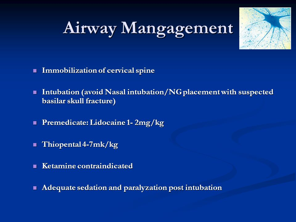 Airway Mangagement Immobilization of cervical spine