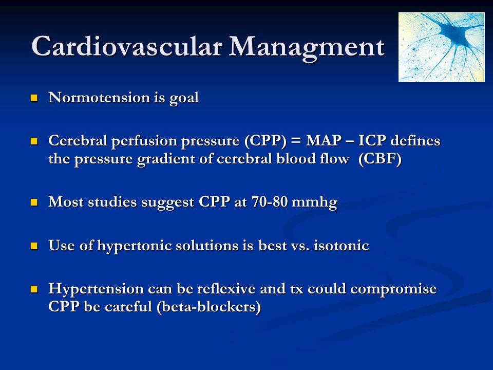 Cardiovascular Managment