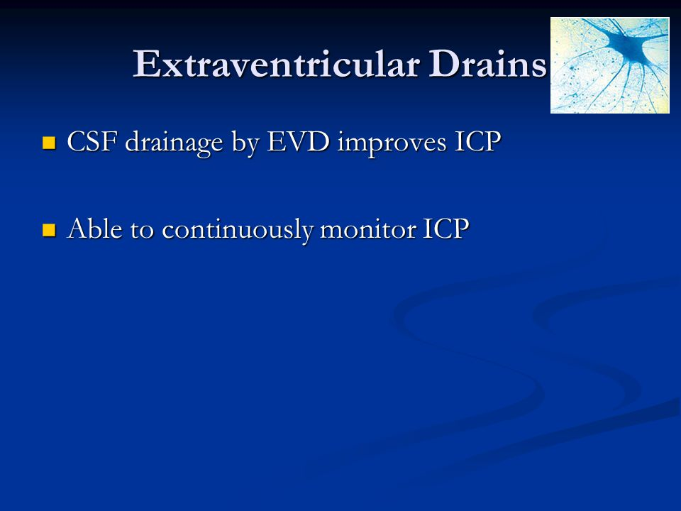 Extraventricular Drains