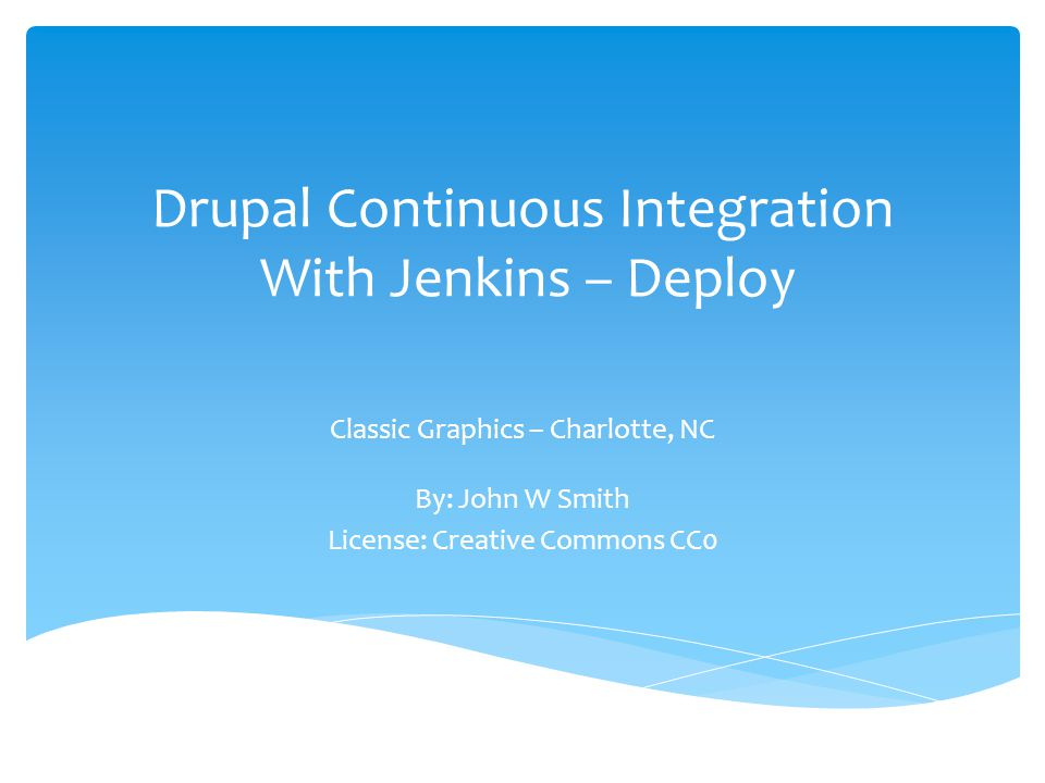 Drupal Continuous Integration With Jenkins – Deploy