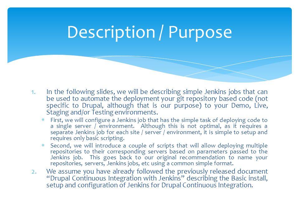 Description / Purpose