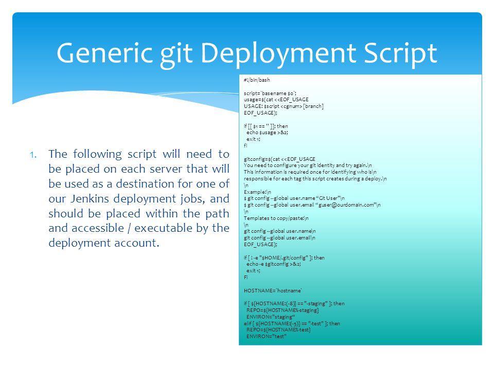Generic git Deployment Script