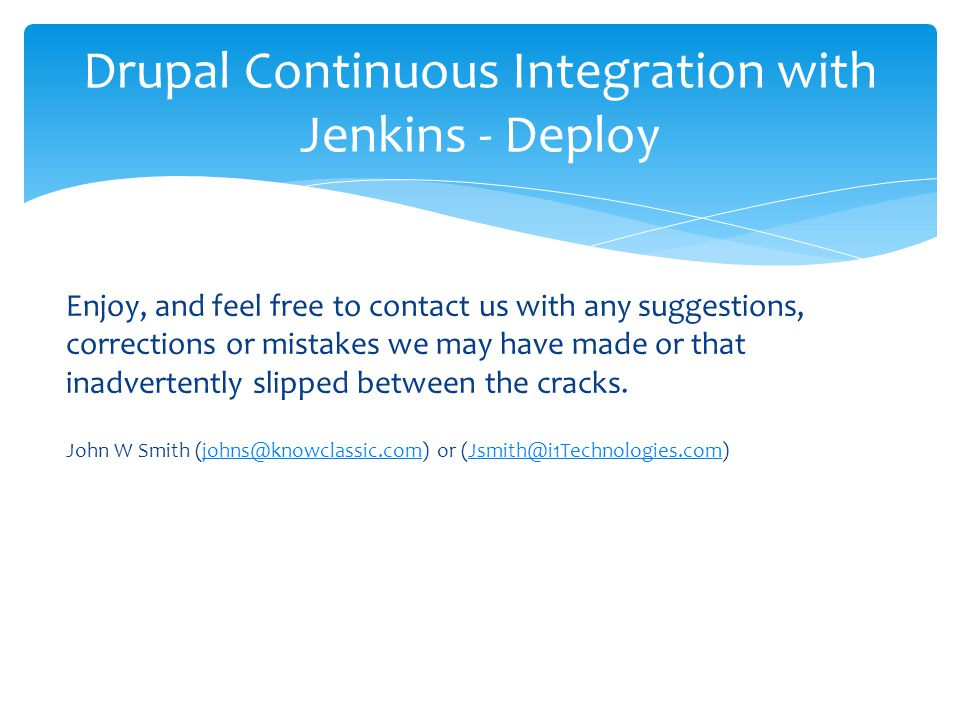 Drupal Continuous Integration with Jenkins - Deploy