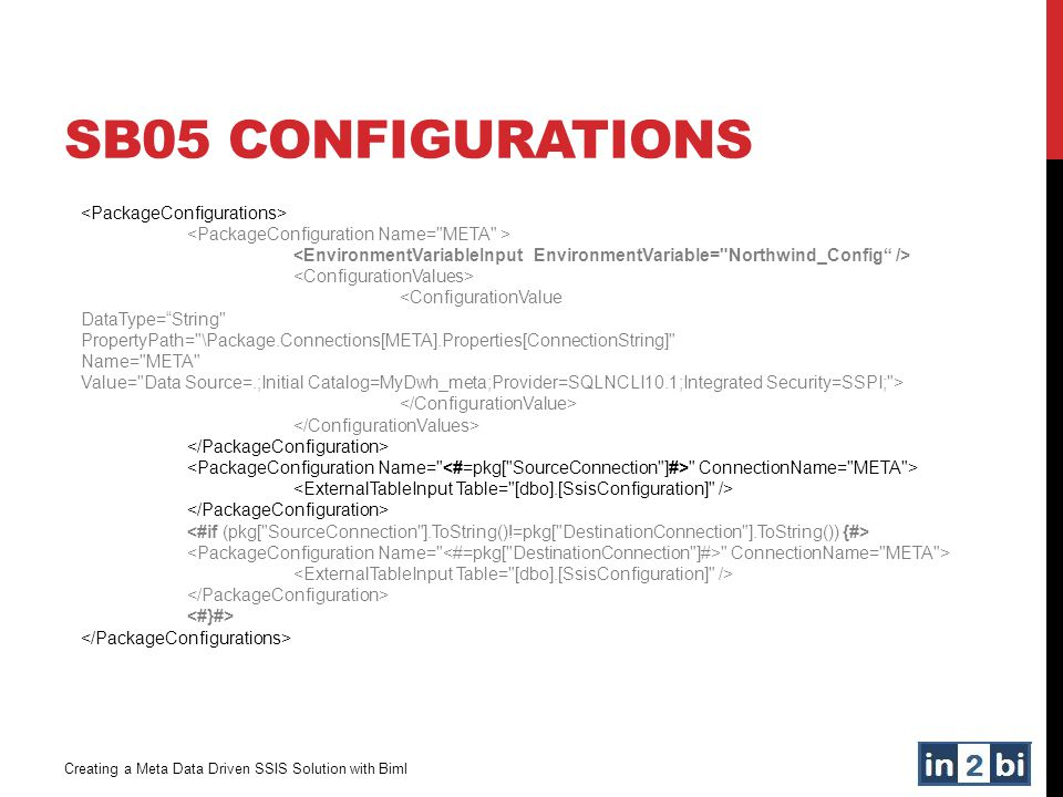 SB05 Configurations <PackageConfigurations>