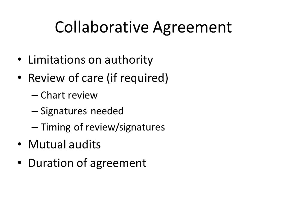 Collaborative Agreement
