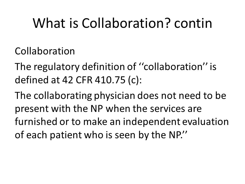 What is Collaboration contin