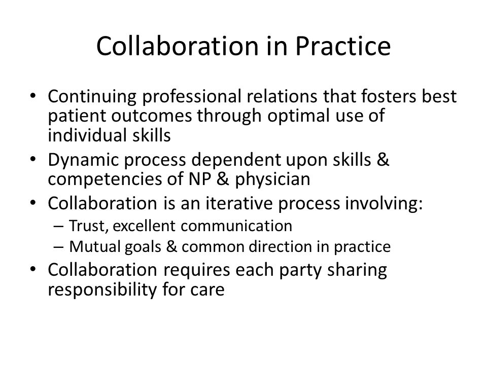 Collaboration in Practice