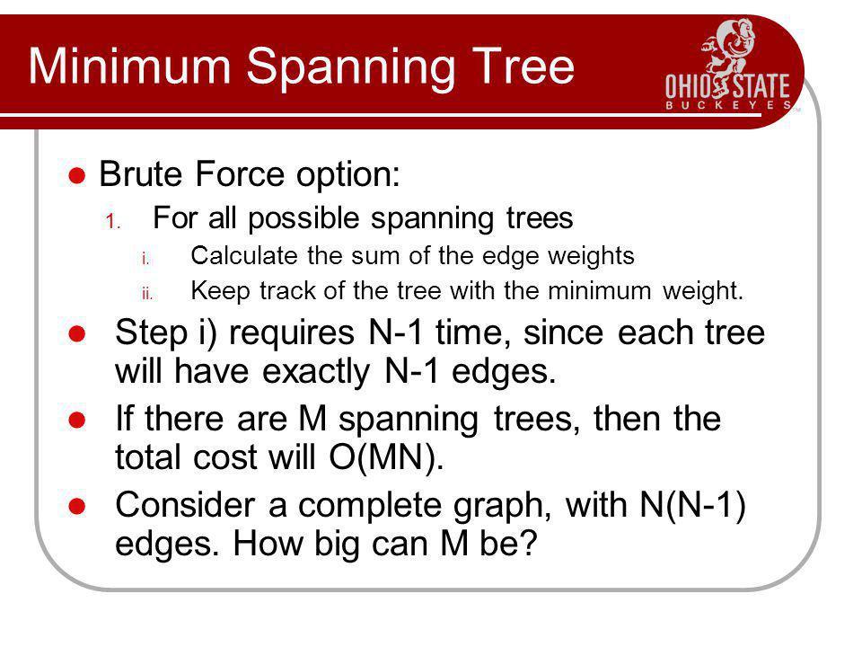 Minimum Spanning Tree Brute Force option: