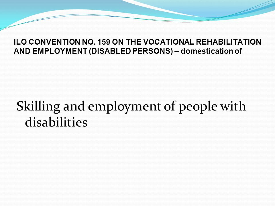 Skilling and employment of people with disabilities