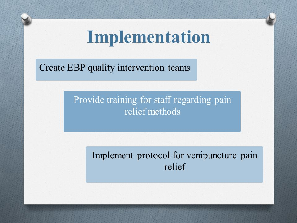 Implementation Create EBP quality intervention teams