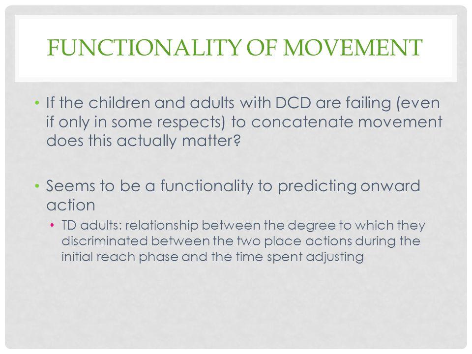 Functionality of movement