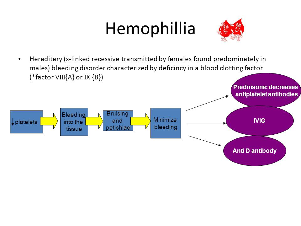 Prednisone: decreases antiplatelet antibodies