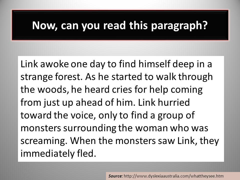 Now, can you read this paragraph
