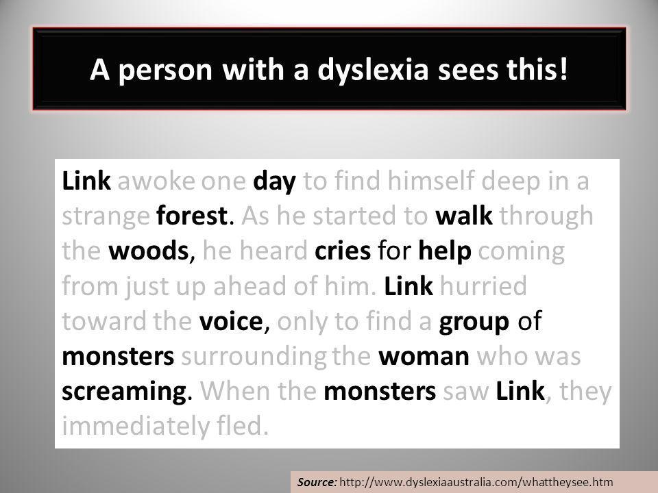 A person with a dyslexia sees this!