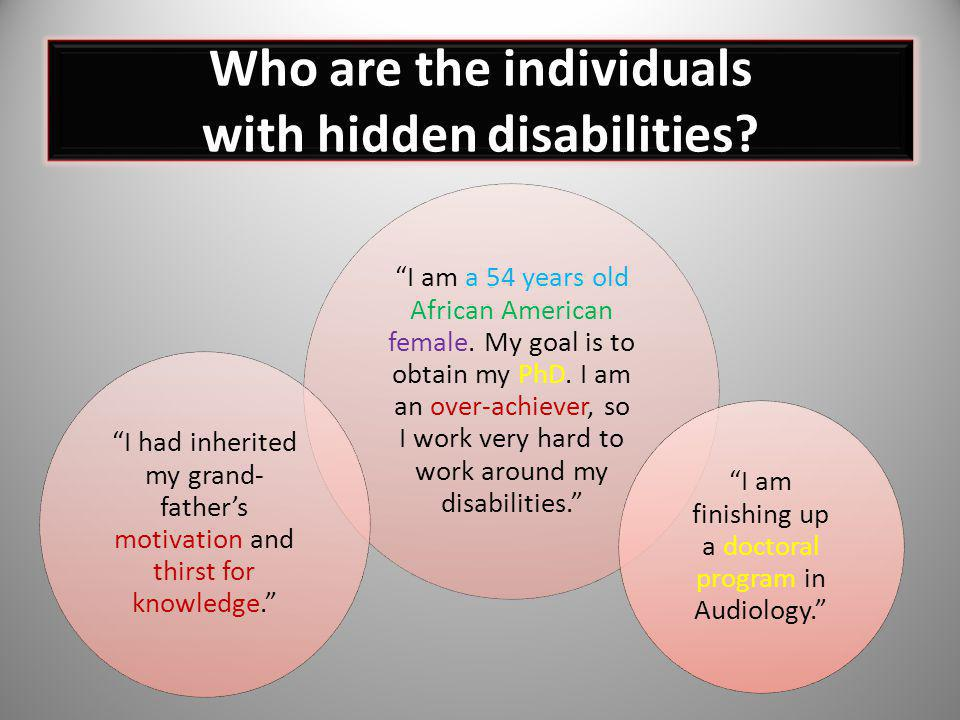 Who are the individuals with hidden disabilities