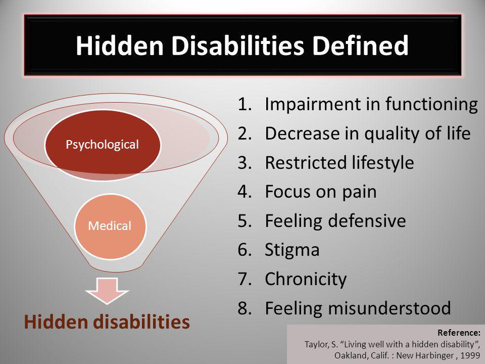 Hidden Disabilities Defined