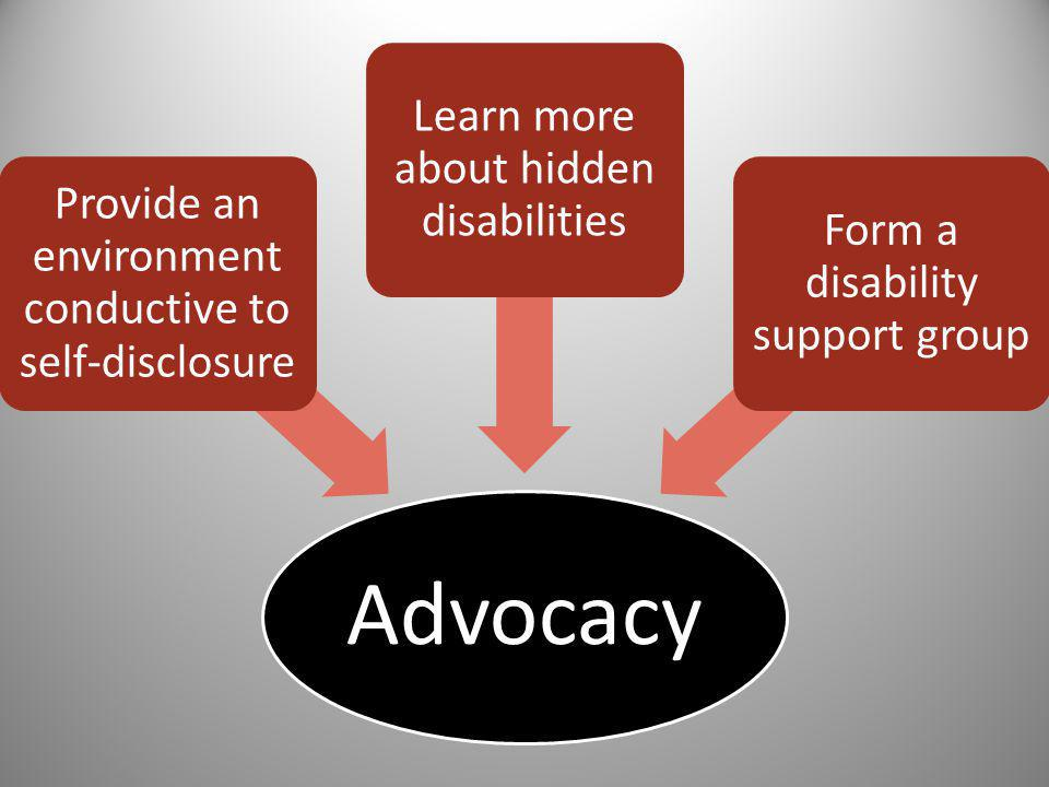 Advocacy Learn more about hidden disabilities