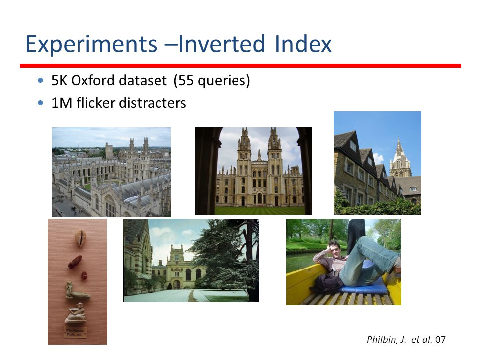 Experiments –Inverted Index