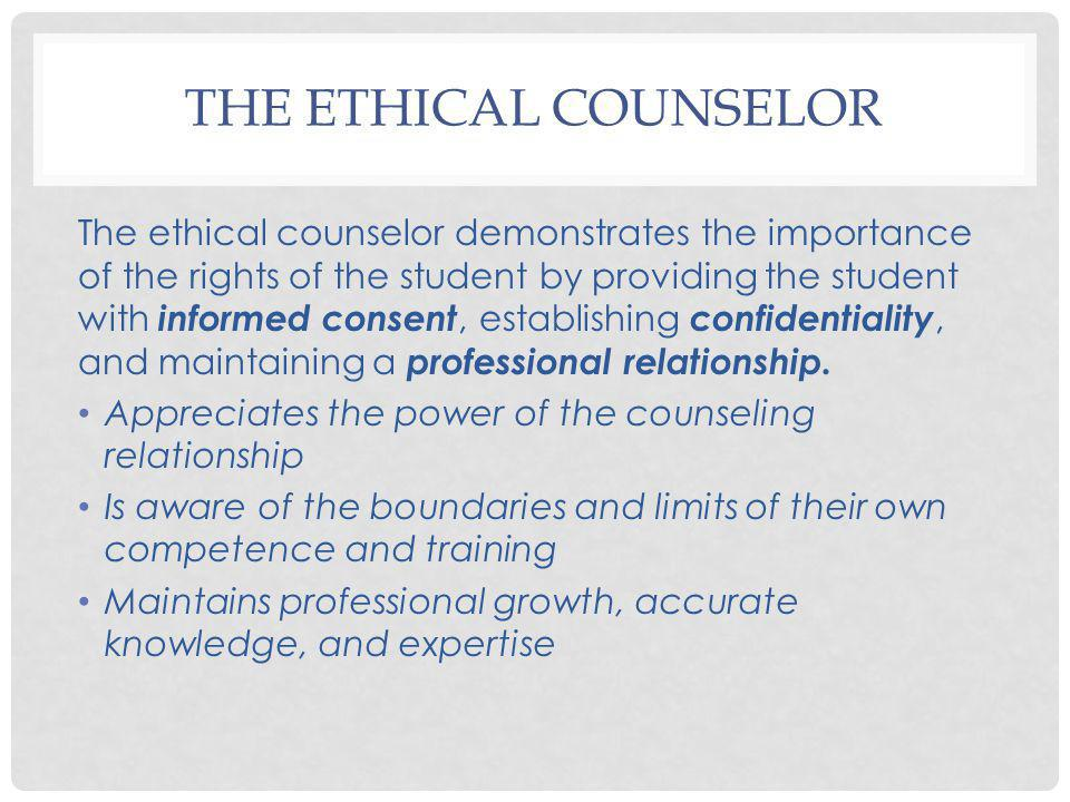 The Ethical Counselor